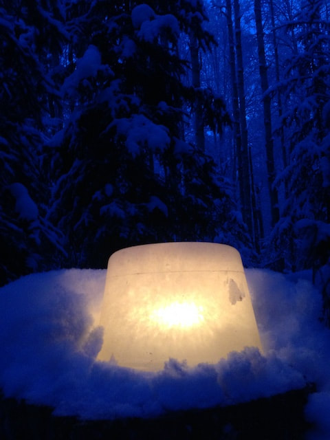 Magical luminary light to celebrate the winter season